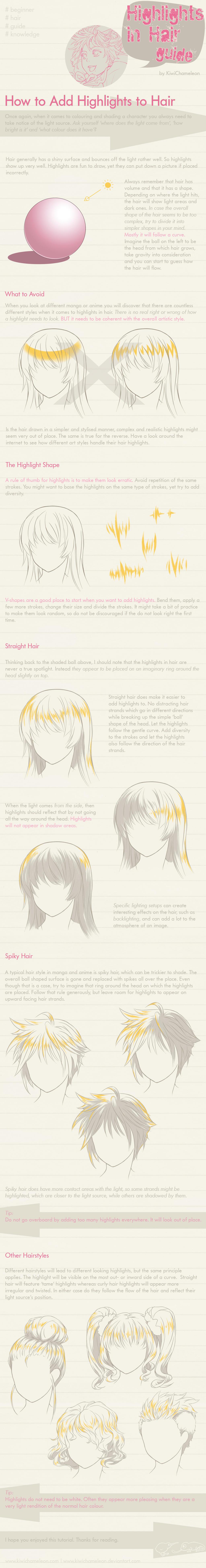 Highlights In Hair Guide By Kiwichameleon On Deviantart