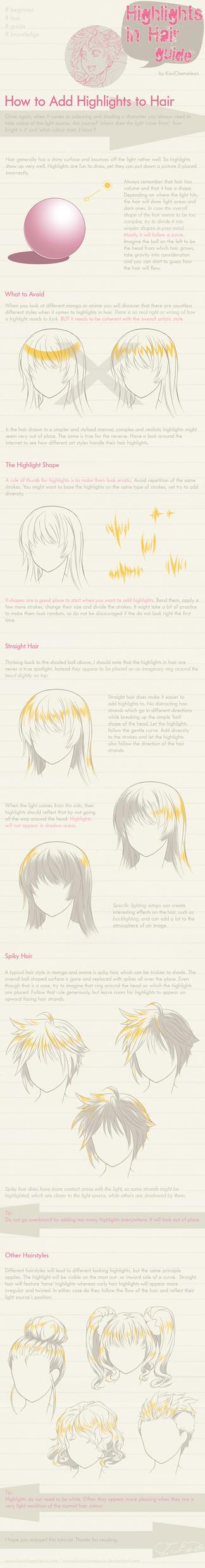 Highlights in Hair - guide by KiwiChameleon