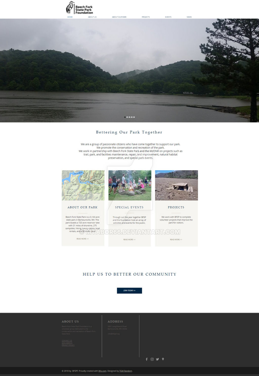 Beech Fork State Park Foundation Website Design