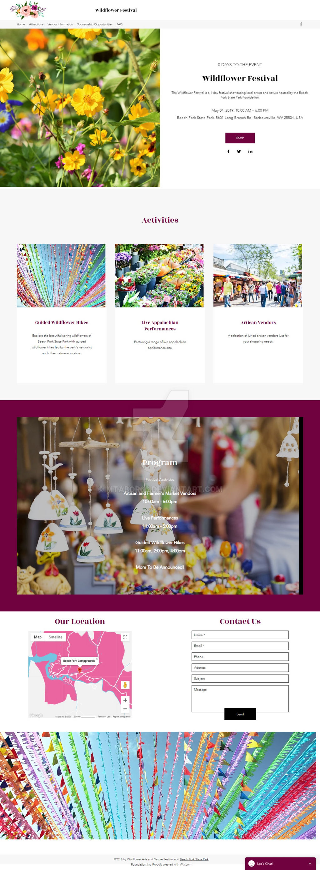 Widlfower Festival Website Design