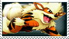 Arcanine Stamp Black by ice-fire