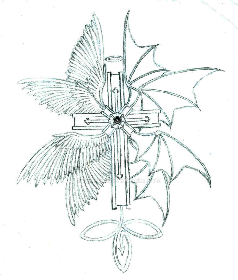 Cross tattoo by ice fire on deviantart for Fire and ice tattoo shop