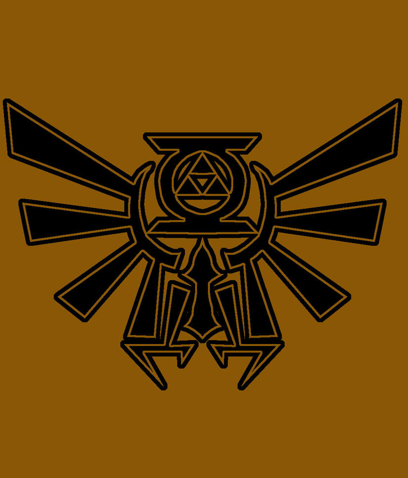 Hylian crest gl tattoo concept by ice fire on deviantart for Fire and ice tattoo shop