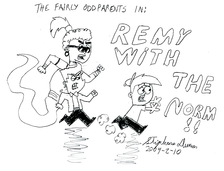 Remy with the Norm by stephdumas