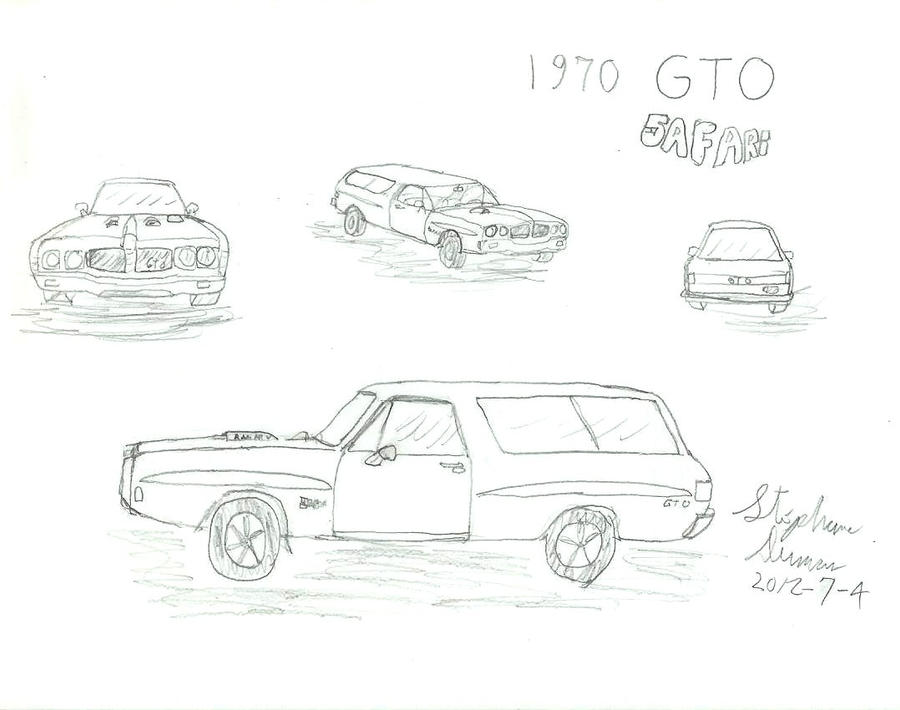 what if  1970 pontiac gto safari by stephdumas on deviantart