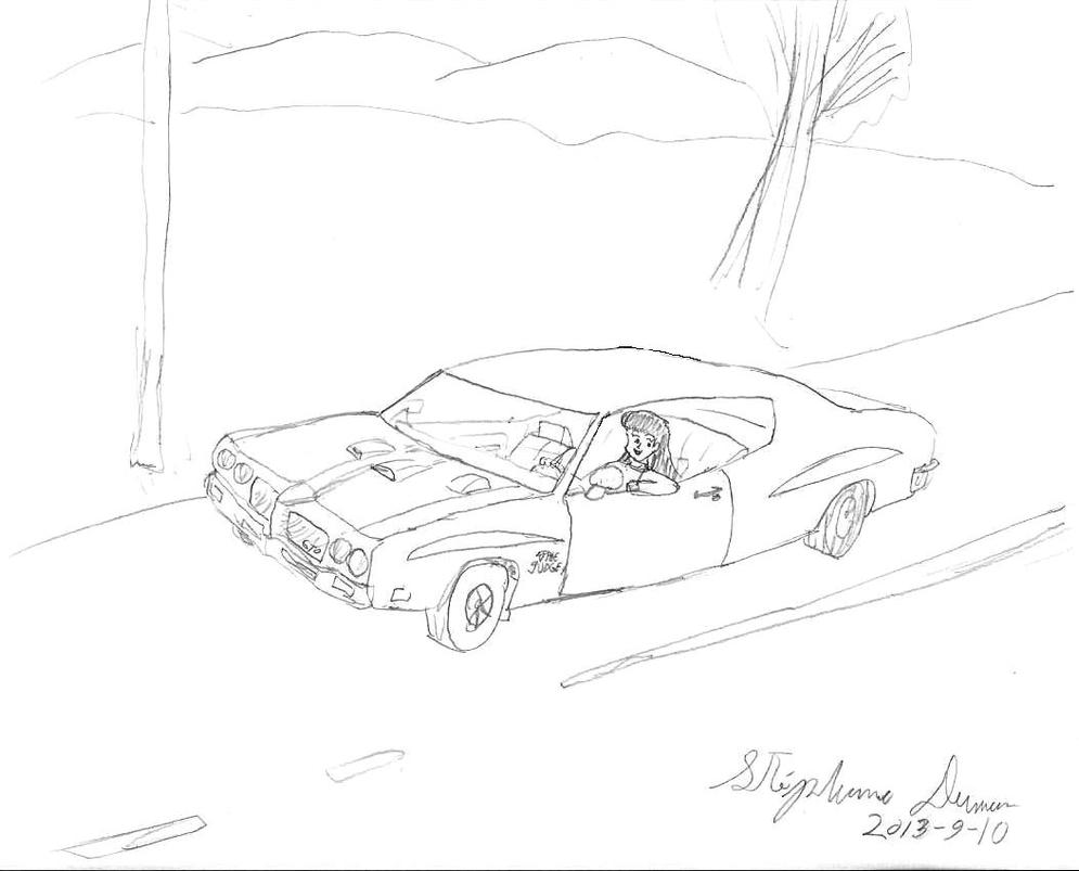 rei hino et sa pontiac gto judge 1970 by stephdumas on deviantart