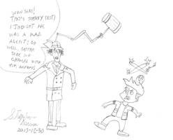 Inspector Gadget vs Johnny Test by stephdumas