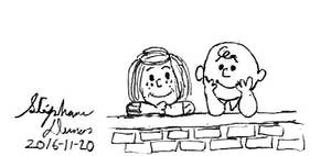 Charlie Brown and Peppermint Patty by stephdumas