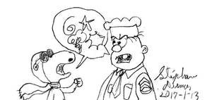 Snoopy and Sergeant Snorkel