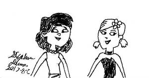 Sky and Zoey from Total Drama