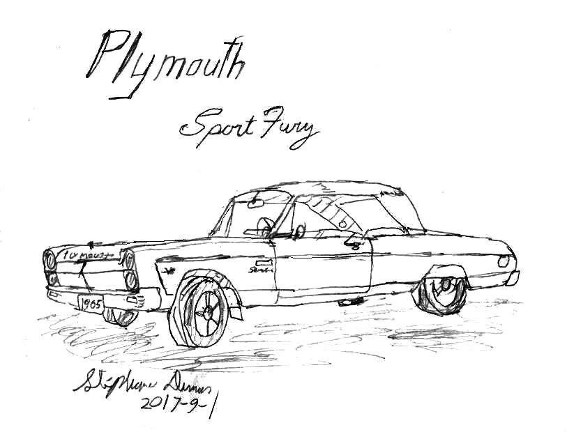 1965 plymouth sport fury by stephdumas on deviantart