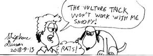 Jon Arbuckle and Snoopy the vulture