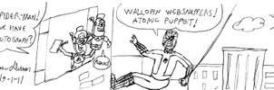 Atomic Puppet meet Spider-man