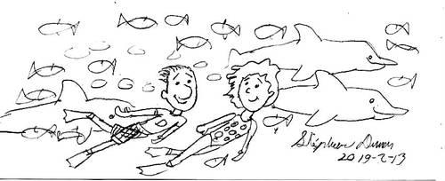 Doug and Patti underwater romantic swim by stephdumas