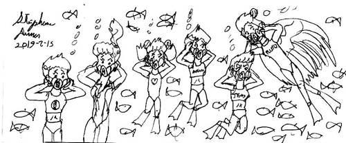 Aqua-Sailors 33 by stephdumas