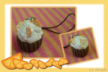 orange cupcake charm by jenyah