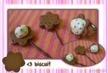 biscuit hairclip and ring by jenyah