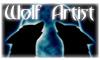 WolfArtist_Stamp by Eternal-BlueWolf
