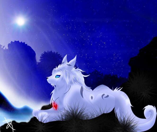 BlueMoon_ Fursona by Eternal-BlueWolf