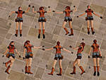 Re 2 you re death poses Claire Redfield