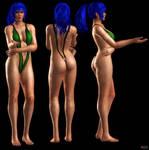 Leona Heidern in V swimsuit