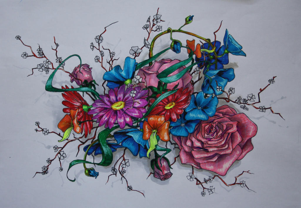 flowery fantasy by bakcia