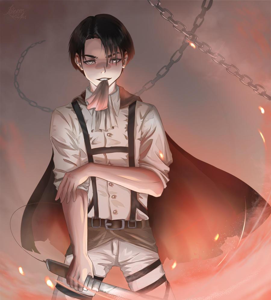 The Igneous Corporal (Levi Ackerman Fanart) by Poleron402 ...