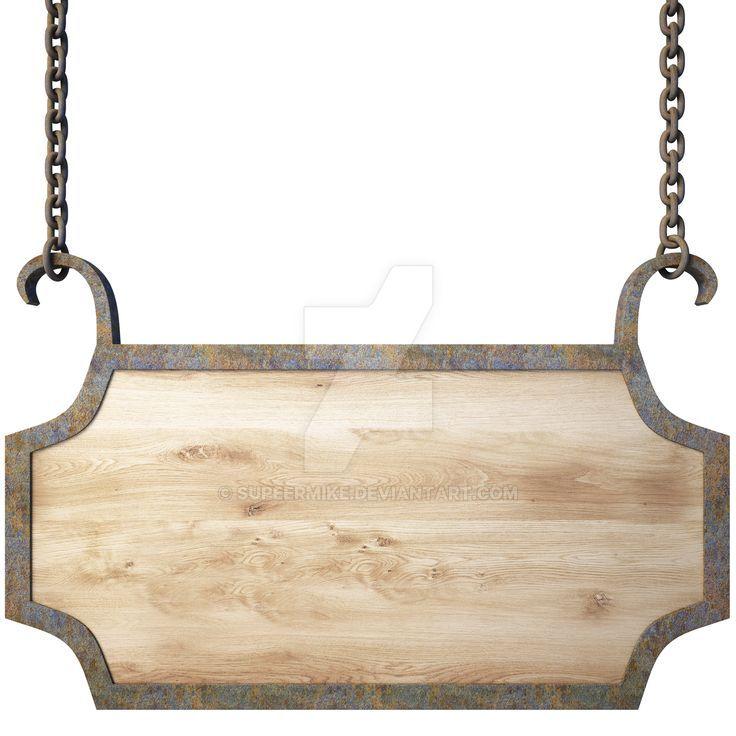 hanging wood sign by supeermike on deviantart. Black Bedroom Furniture Sets. Home Design Ideas