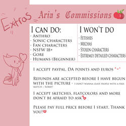 EXTRAS 2020 Commission prices!