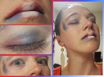 4th of July make-up