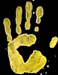 3F Golden handprint