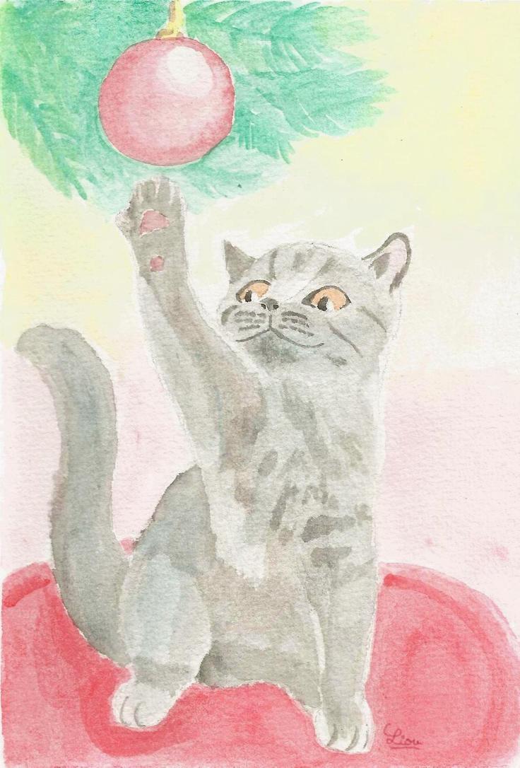 Holiday kitten by KittyLiou