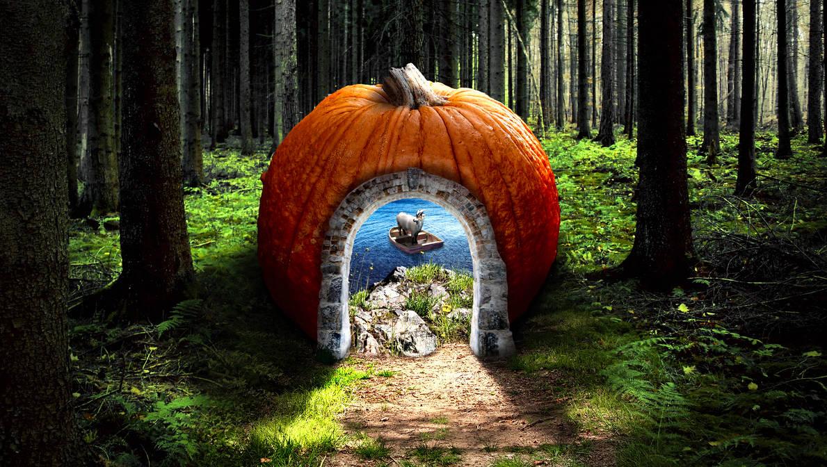 Pumpkin Portal (to a Goat in a Boat)