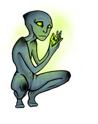 Greenish Blueish Guy by Mik-Mixter-Mik