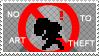 No To Art Theft by Mimisuzu