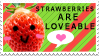 Strawberry Stamp by Mimisuzu