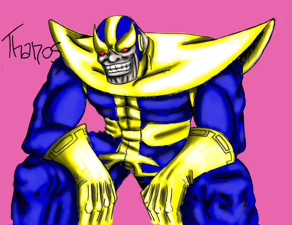 Art VitorFF  - Página 2 Thanos_by_vitorff-d5osg30