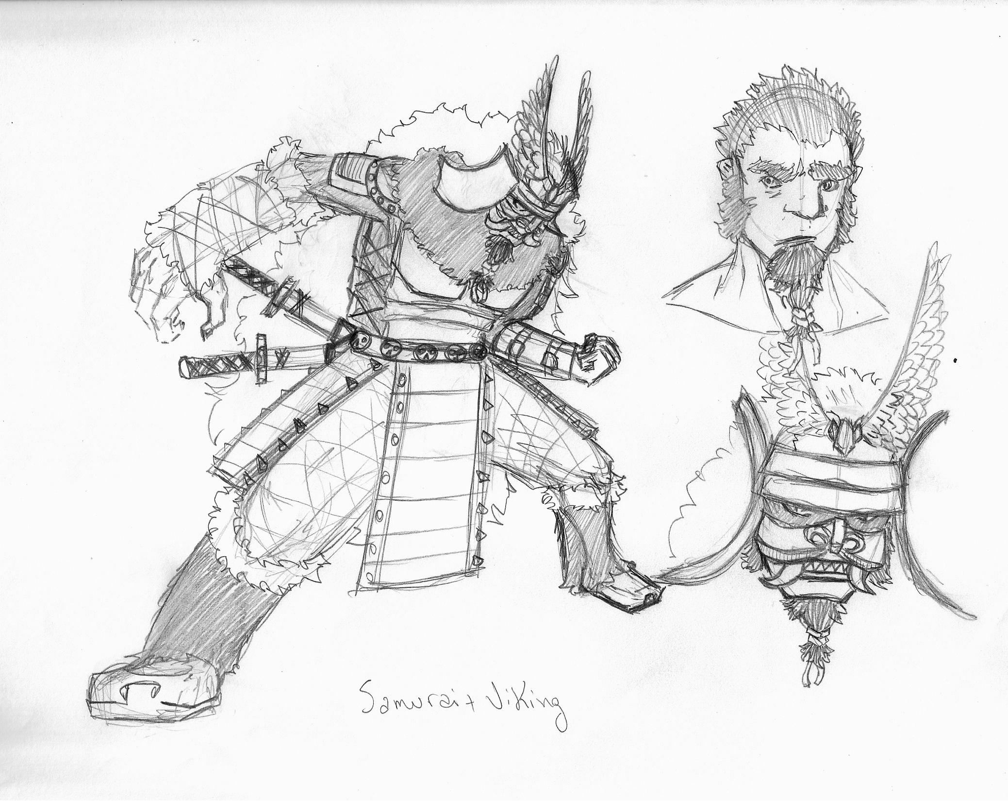 Viking samurai by VitorFF