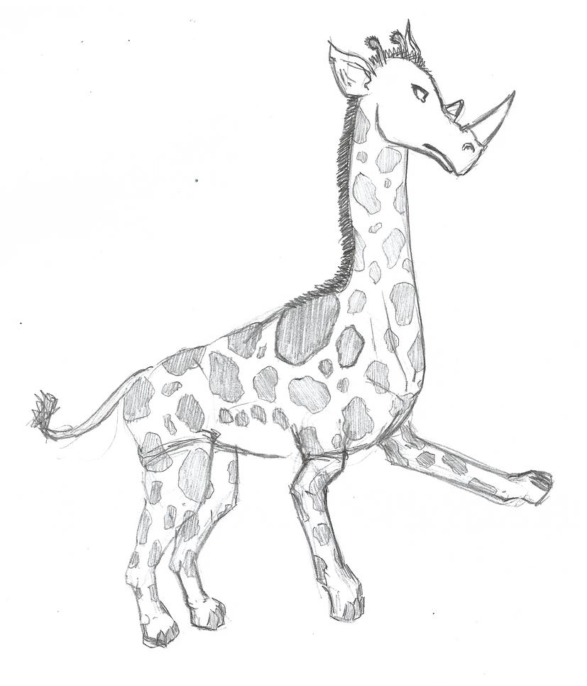 Girafa + Rinoceronte by VitorFF