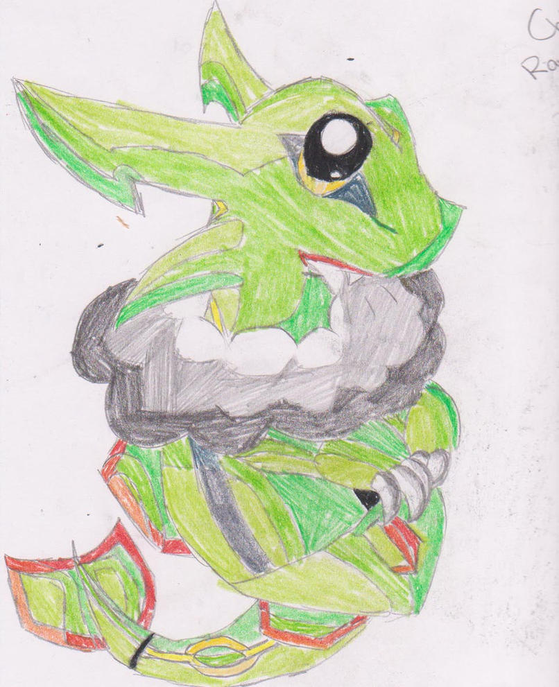 Chibi Rayquaza by NinjaPanda909 on deviantART
