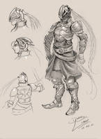concept art knight by danihell-lima
