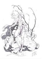 Athena ( dynamite comics ) sketche by danihell-lima