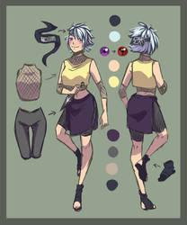 Akemi ref sheet by Alexia-Arts