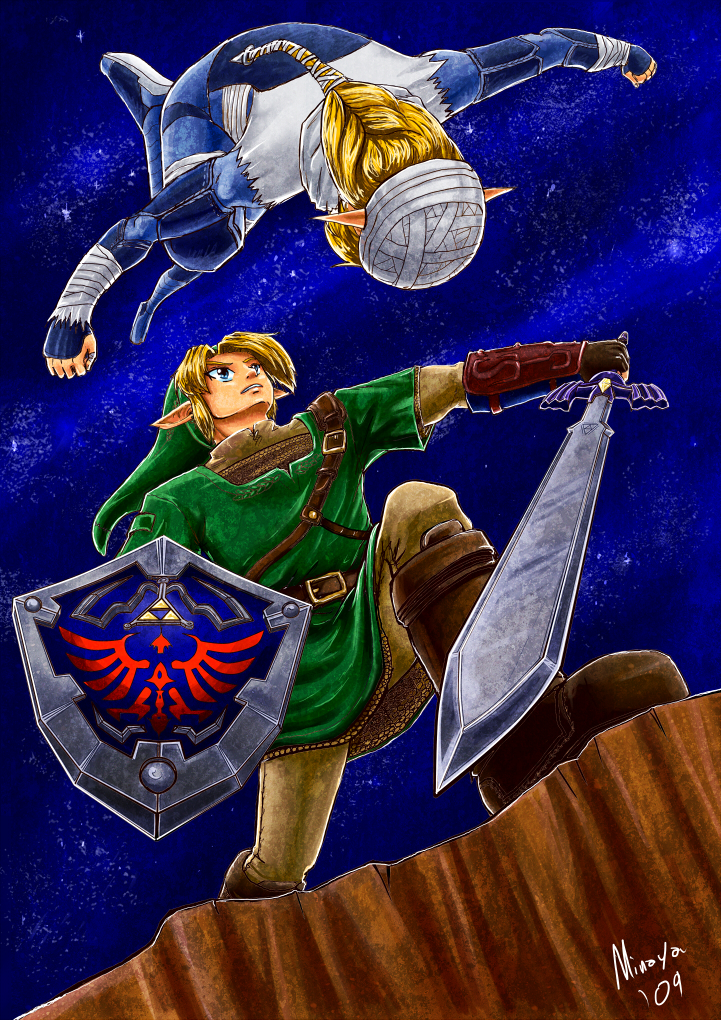 Link vs Sheik by Minaya