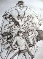Std -Grupo Segunda saga boceto by Minaya