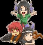 Dazaja, Aslam y Senma por Megu