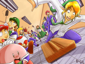 Kiriban 100000 - Nintendo School by Minaya