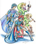 Marth. Roy and Link - Melee