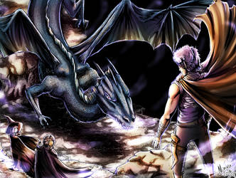 Senma y el dragon - version 2 by Minaya
