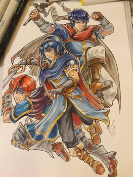 Marth, Roy and Ike